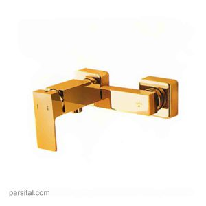 شیر توالت شایان الماس طلایی به همراه شلنگ